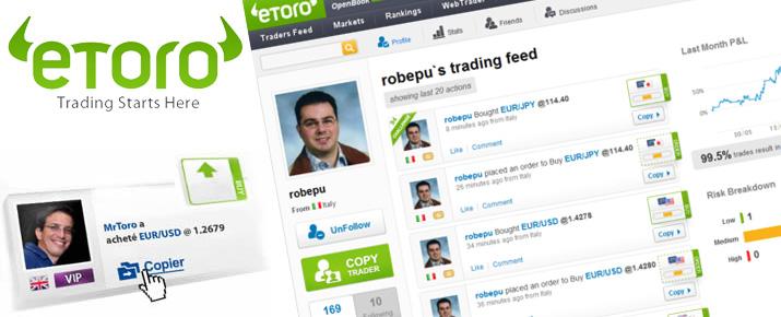 Le trading social avec eToro